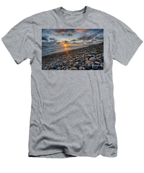 Rocky Coast Sunset Men's T-Shirt (Athletic Fit)