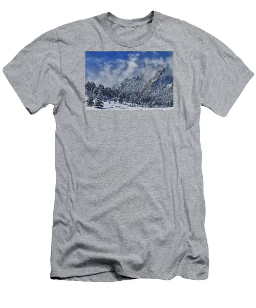 Rocky Mountain Dusting Of Snow Boulder Colorado Men's T-Shirt (Athletic Fit)