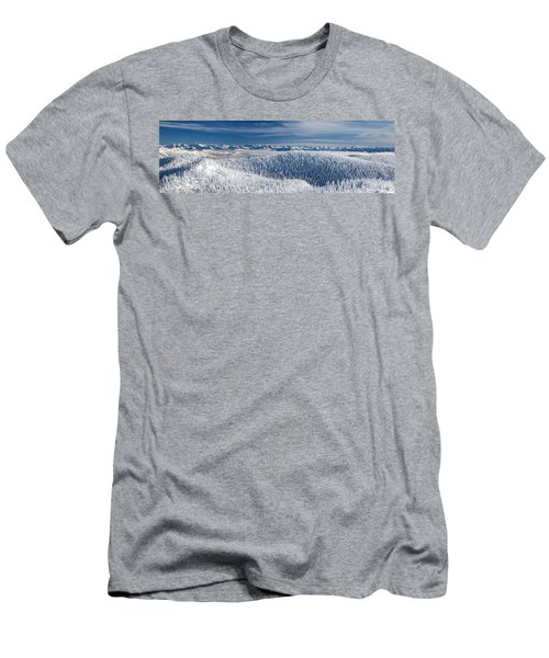 Rocky Mountain Winter Men's T-Shirt (Slim Fit) by Aaron Aldrich