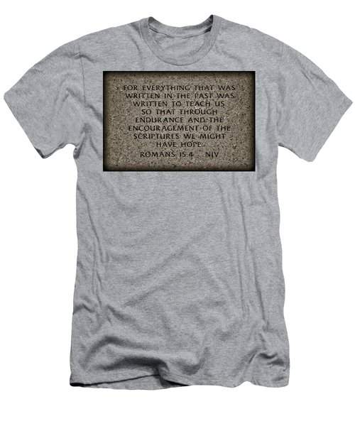 Romans 15 4 Men's T-Shirt (Athletic Fit)