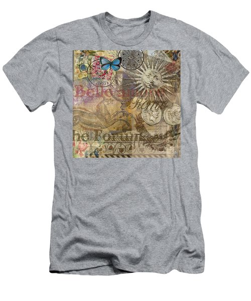 Rome Vintage Italy Travel Collage  Men's T-Shirt (Athletic Fit)