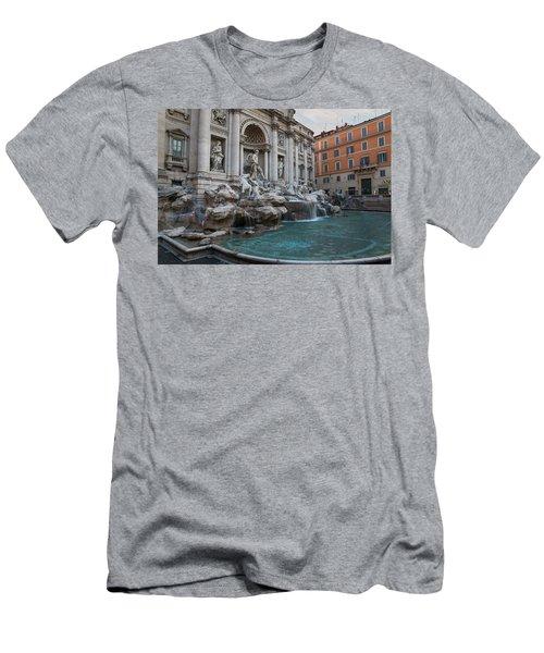 Rome's Fabulous Fountains - Trevi Fountain No Tourists Men's T-Shirt (Athletic Fit)