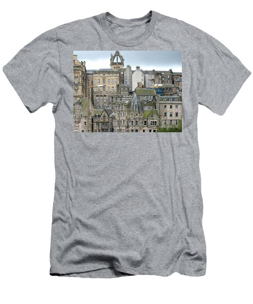 Men's T-Shirt (Slim Fit) featuring the photograph Roofs Of Edinburgh  by Suzanne Oesterling