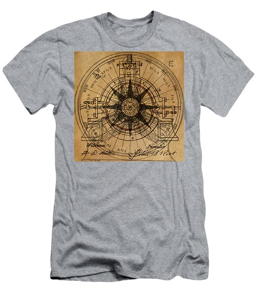 Men's T-Shirt (Slim Fit) featuring the painting Root Patent I by James Christopher Hill