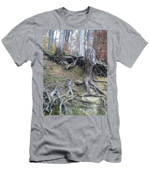 Men's T-Shirt (Slim Fit) featuring the painting Roots by Felicia Tica