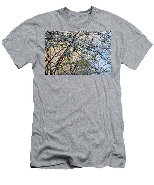 Men's T-Shirt (Slim Fit) featuring the painting Rosa Canina  by Felicia Tica