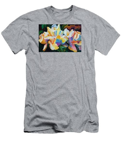 Rose Cluster Half Men's T-Shirt (Slim Fit) by Kathy Braud