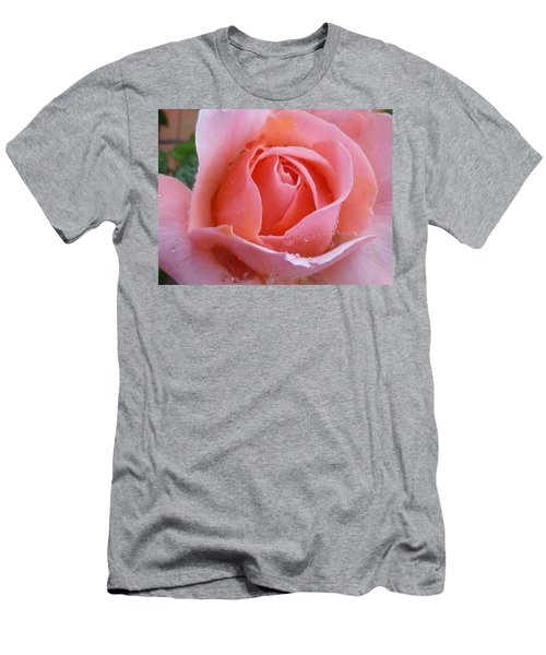 Men's T-Shirt (Slim Fit) featuring the photograph Rose In The Rain by Lingfai Leung
