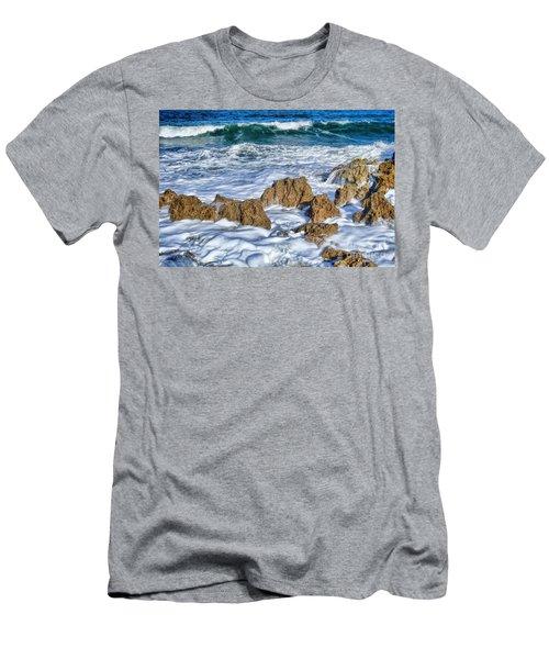 Men's T-Shirt (Slim Fit) featuring the photograph Ross Witham Beach Stuart Florida by Olga Hamilton