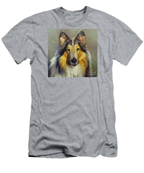 Rough Collie Men's T-Shirt (Slim Fit) by Dragica  Micki Fortuna