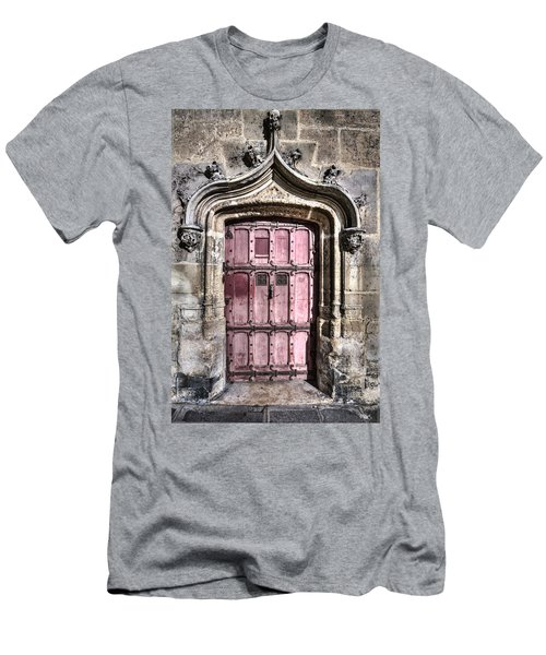 Ruins With Red Door Men's T-Shirt (Athletic Fit)