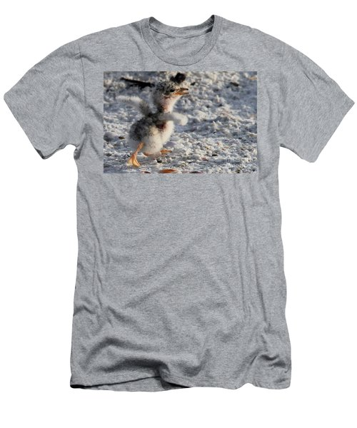 Running Free - Least Tern Men's T-Shirt (Athletic Fit)