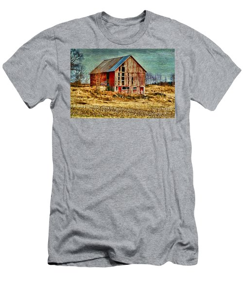 Rural Rustic Vermont Scene Men's T-Shirt (Slim Fit) by Deborah Benoit