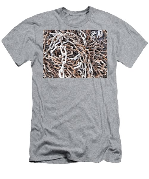 Men's T-Shirt (Slim Fit) featuring the photograph Rusty Links by Cheryl Hoyle