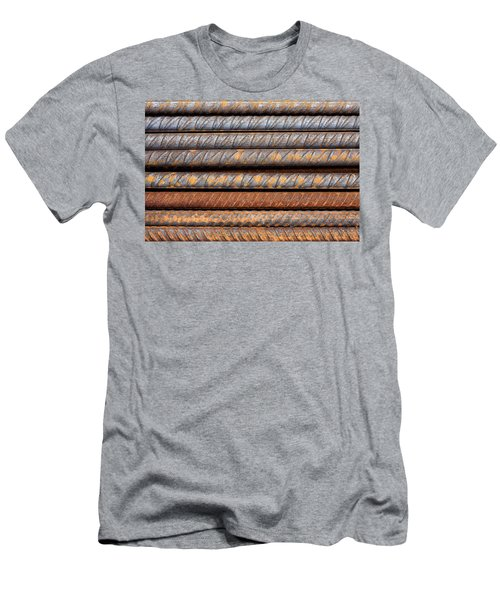 Rusty Rebar Rods Metallic Pattern Men's T-Shirt (Athletic Fit)