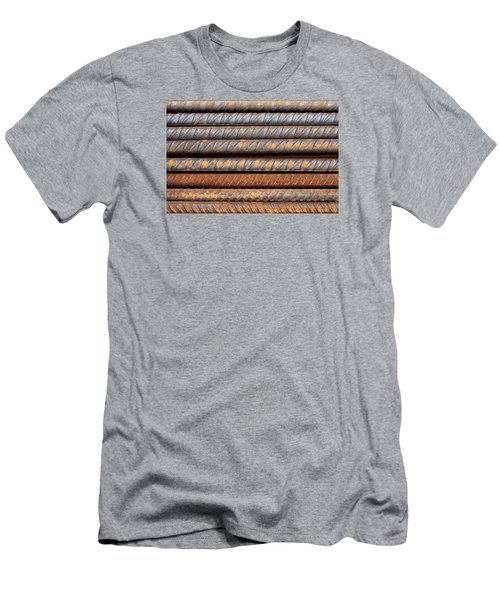 Rusty Rebar Rods Metallic Pattern Men's T-Shirt (Athletic Fit)