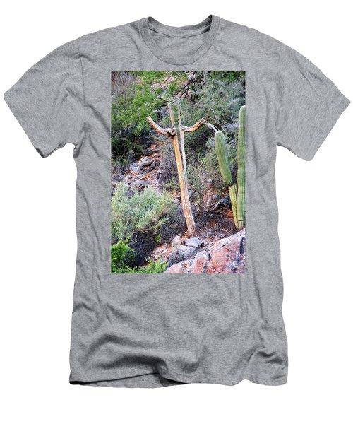 Saguaro Skeleton Men's T-Shirt (Athletic Fit)