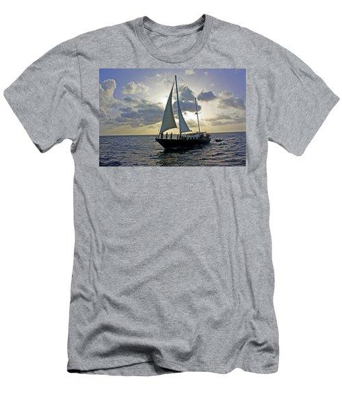Sailing In Aruba Men's T-Shirt (Athletic Fit)