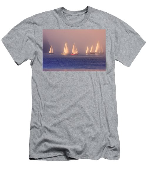 Sailing On A Misty Ocean Men's T-Shirt (Athletic Fit)