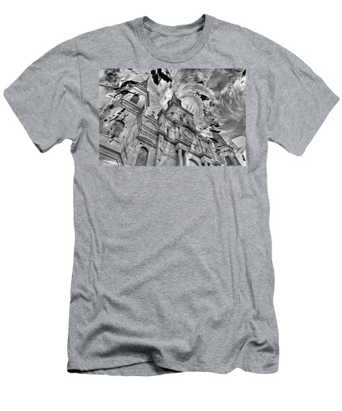 Men's T-Shirt (Slim Fit) featuring the photograph Saint Louis Cathedral And Spirits by Ron White
