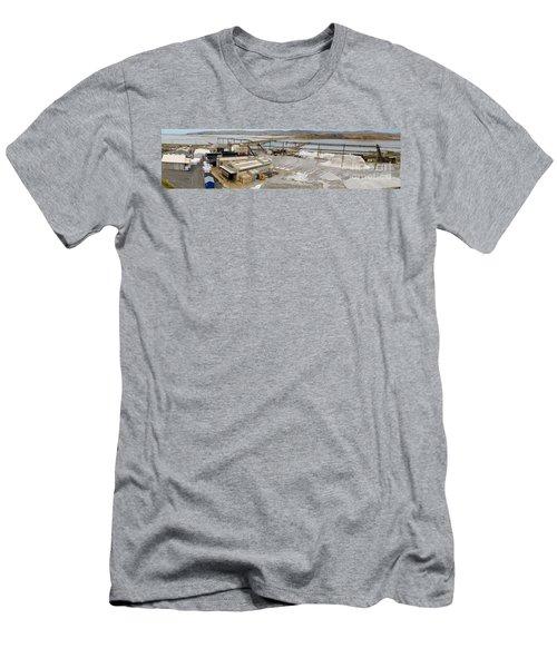 Saline Refinery Stockpiles Sea Salt Under Conveyor Men's T-Shirt (Athletic Fit)