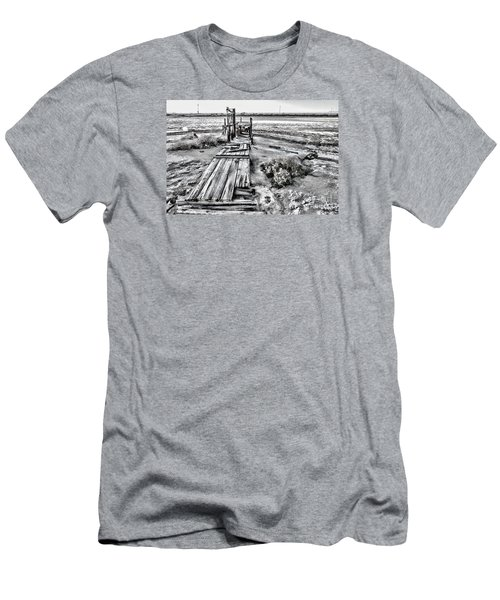 Salton Sea Dock Under Renovation By Diana Sainz Men's T-Shirt (Athletic Fit)
