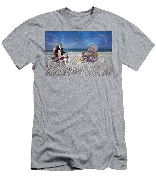Sam And His Friend Visit Long Boat Key Men's T-Shirt (Athletic Fit)