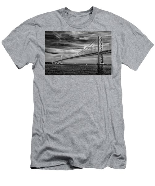 San Francisco - Oakland Bay Bridge Men's T-Shirt (Athletic Fit)