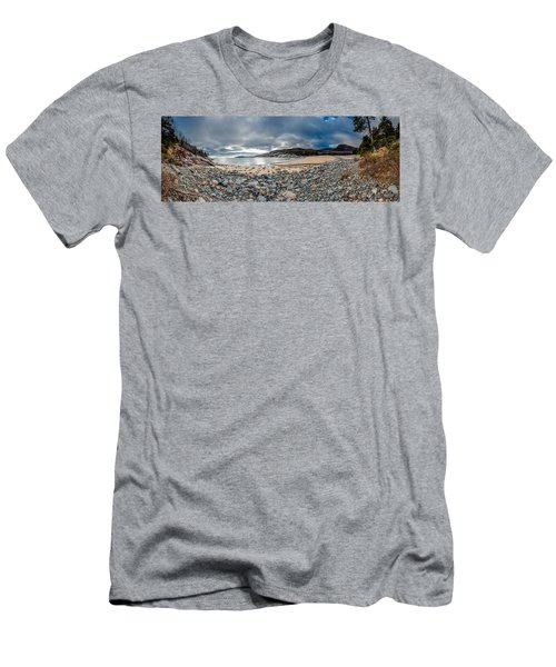 Sand Beach At Acadia Men's T-Shirt (Athletic Fit)