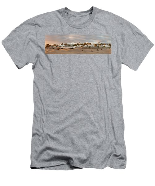 Sand Dunes In A Desert With A Hotel Men's T-Shirt (Athletic Fit)