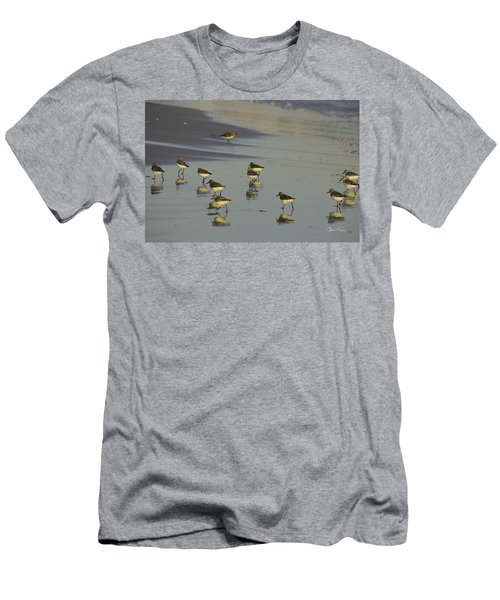 Sandpiper Sunset Reflection Men's T-Shirt (Athletic Fit)