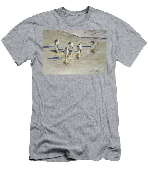 Sandpipers 2 Watercolor 5-13-12 Julianne Felton Men's T-Shirt (Athletic Fit)