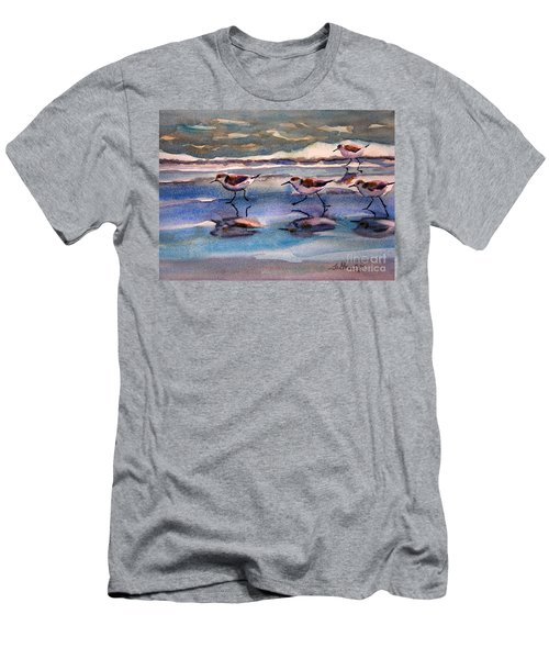 Sandpipers Running In Beach Shade 3-10-15 Men's T-Shirt (Athletic Fit)