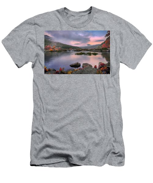 Sandstone Falls At Dawn Men's T-Shirt (Athletic Fit)