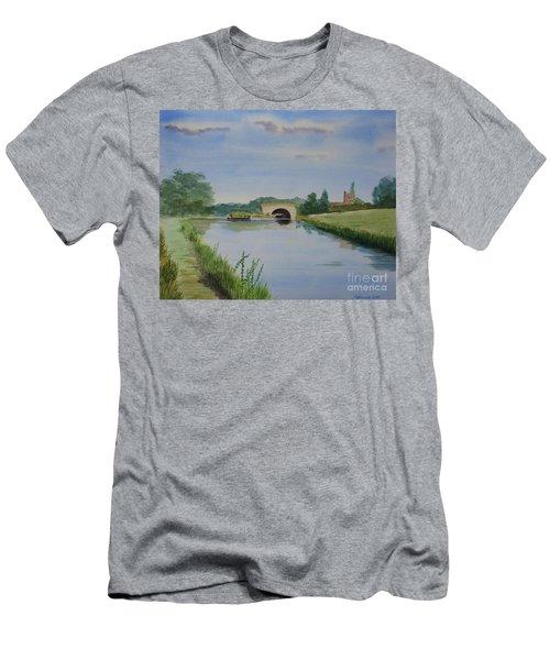 Sandy Bridge Men's T-Shirt (Slim Fit) by Martin Howard