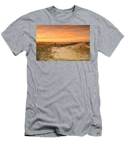 Sandy Road Leading To The Beach Men's T-Shirt (Athletic Fit)