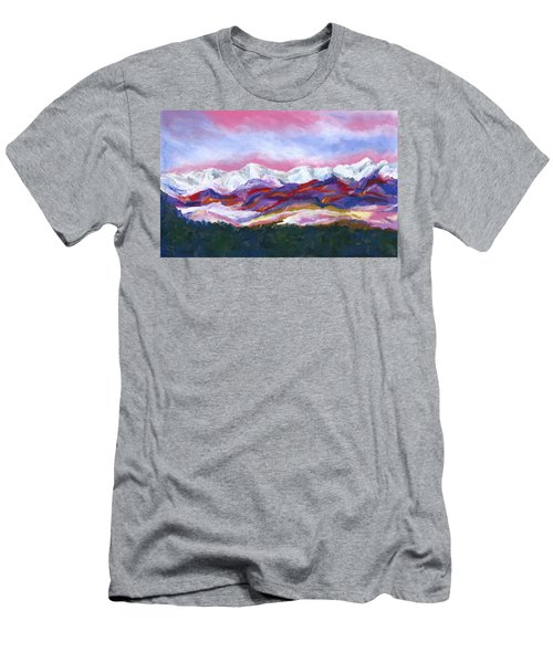 Men's T-Shirt (Slim Fit) featuring the painting Sangre De Cristo Mountains by Stephen Anderson