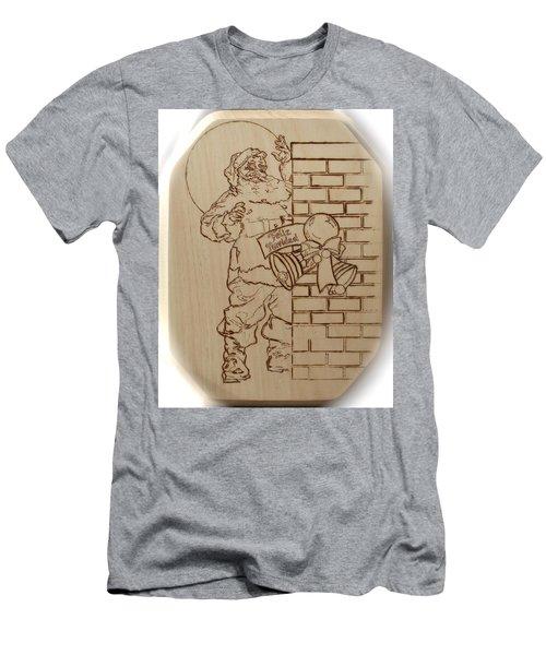 Santa Claus - Feliz Navidad Men's T-Shirt (Slim Fit) by Sean Connolly