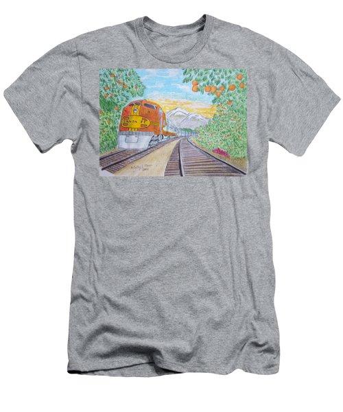 Santa Fe Super Chief Train Men's T-Shirt (Slim Fit) by Kathy Marrs Chandler