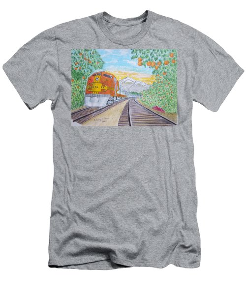 Santa Fe Super Chief Train Men's T-Shirt (Athletic Fit)