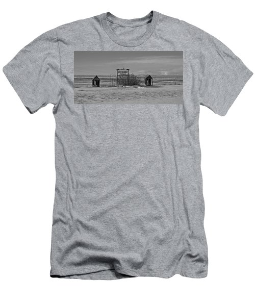 Men's T-Shirt (Slim Fit) featuring the photograph Savageton Cemetery  Wyoming by Cathy Anderson