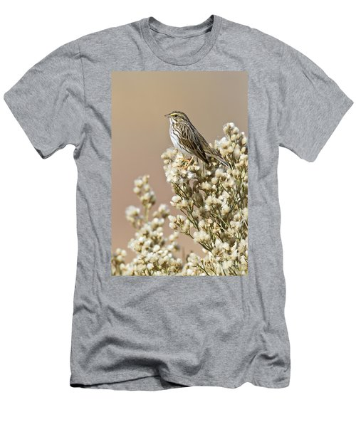 Men's T-Shirt (Slim Fit) featuring the photograph Savannah Sparrow by Bryan Keil