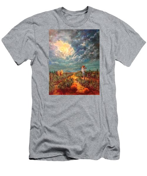 Scarecrow Moon Pumpkins And Mystery Men's T-Shirt (Slim Fit) by Randy Burns