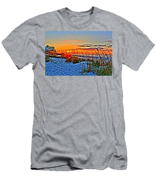 Sea Oats At Sunrise Men's T-Shirt (Athletic Fit)