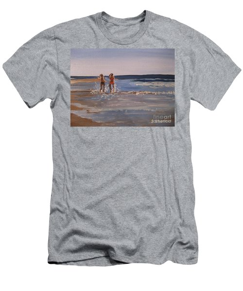 Sea Splashing On The Beach Men's T-Shirt (Athletic Fit)