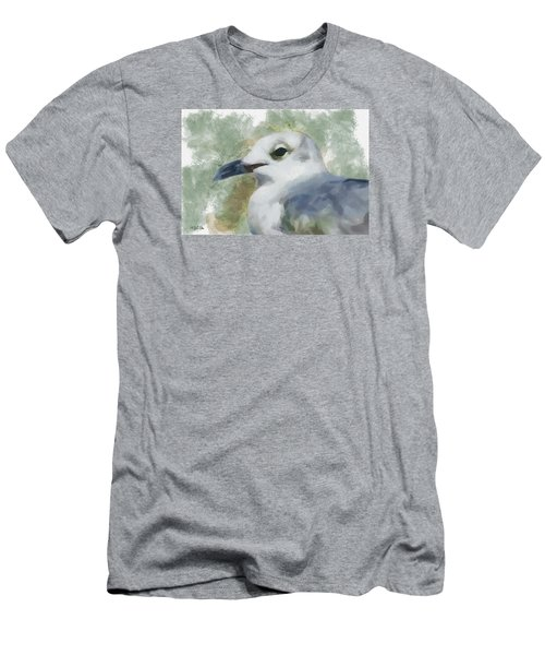 Men's T-Shirt (Slim Fit) featuring the painting Seagull Closeup by Greg Collins