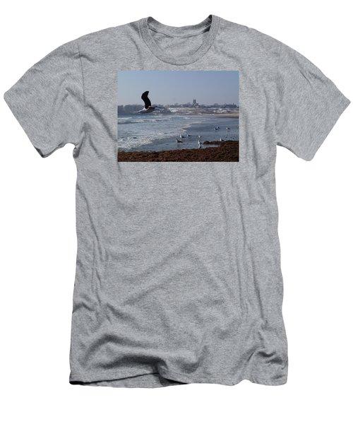 Seagull Men's T-Shirt (Slim Fit) by Robert Nickologianis