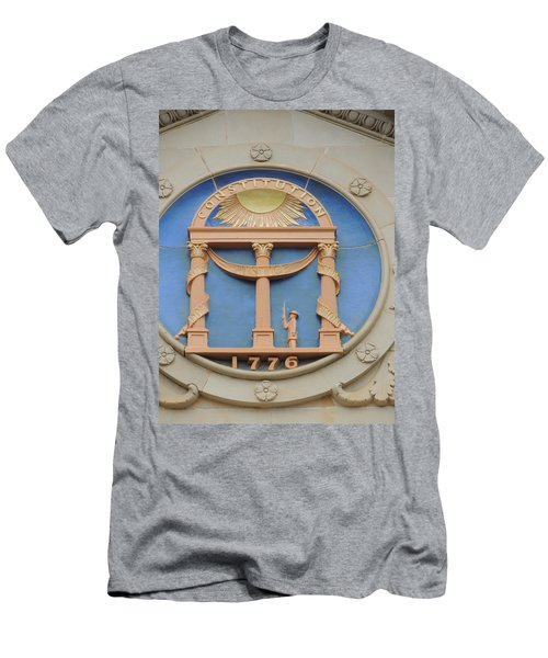 Men's T-Shirt (Slim Fit) featuring the photograph seal of Georgia by Aaron Martens