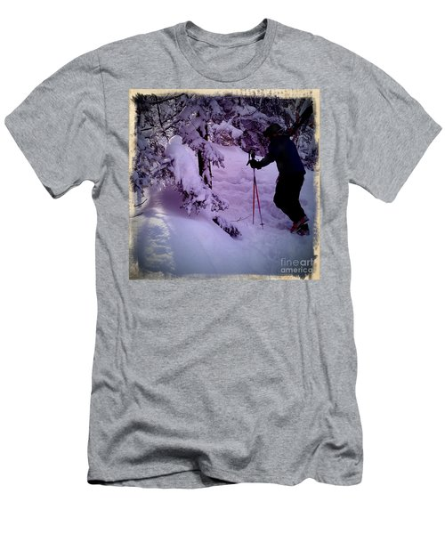 Searching For Powder Men's T-Shirt (Slim Fit) by James Aiken