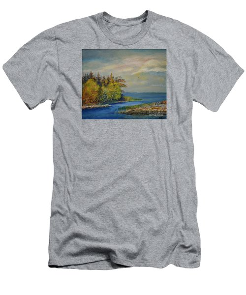 Seascape From Hamina 3 Men's T-Shirt (Athletic Fit)